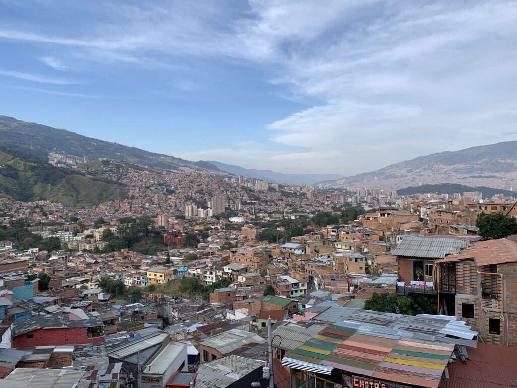 A view of Medellin from Comuna 13.