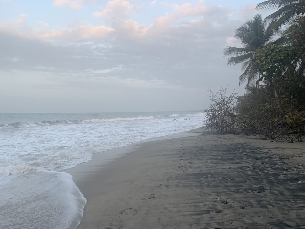 The beach in Palomino, Colombia